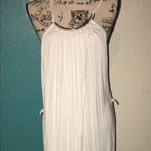 White Asymmetric Maxi Dress